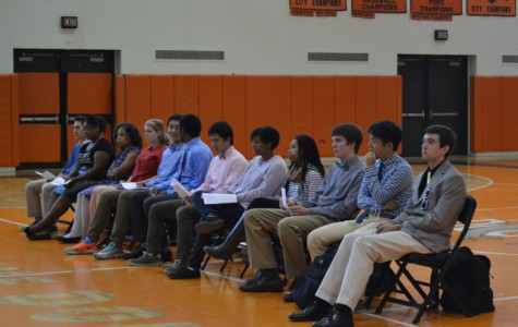 Gallery: Senior class officer candidates give speeches during long division