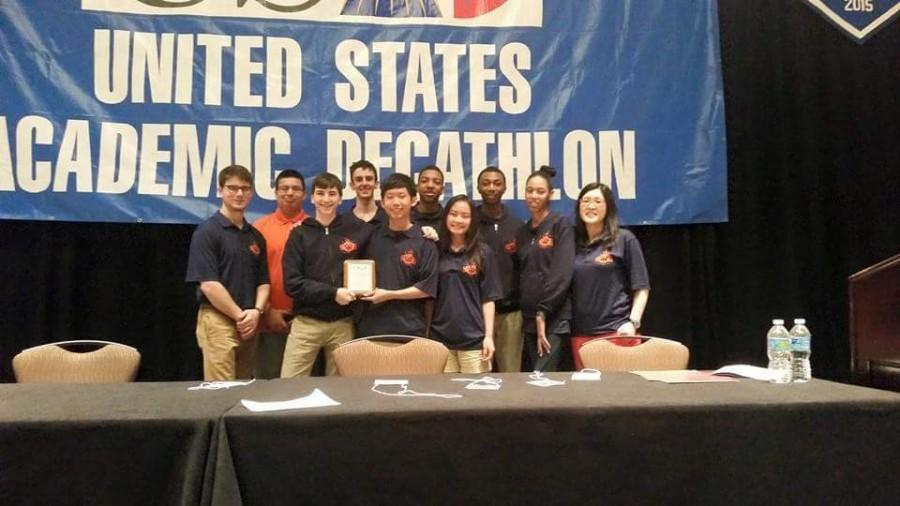 The WY AcaDec team after winning their 3rd place title at nationals. Courtesy of Matthew Patrick 15.