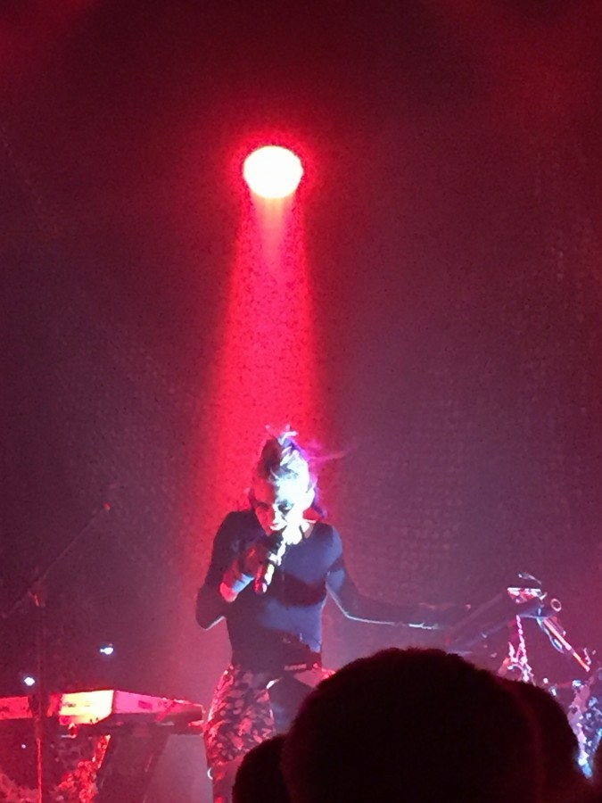 Grimes performing at the Metro on Nov. 24th
