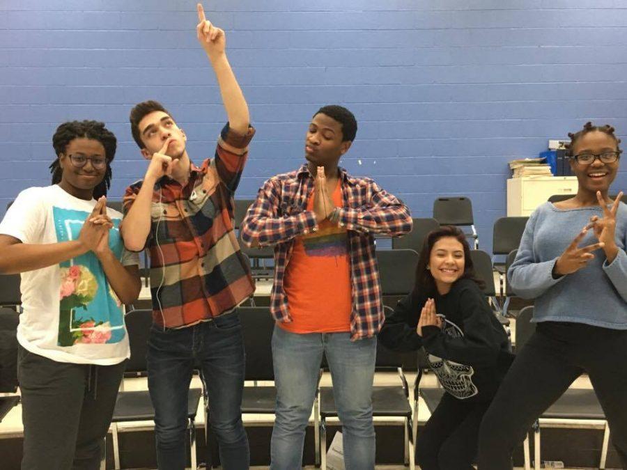 WYs Harmonyx posing in their squad pose