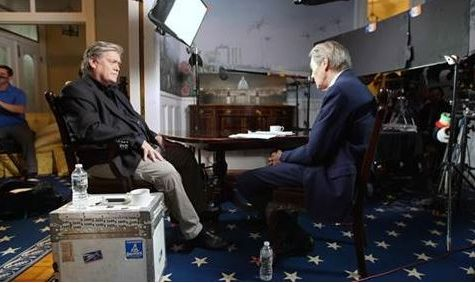 Steve Bannon's ironic CBS interview