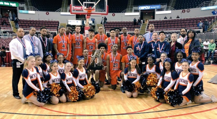 Boys basketball places second in state