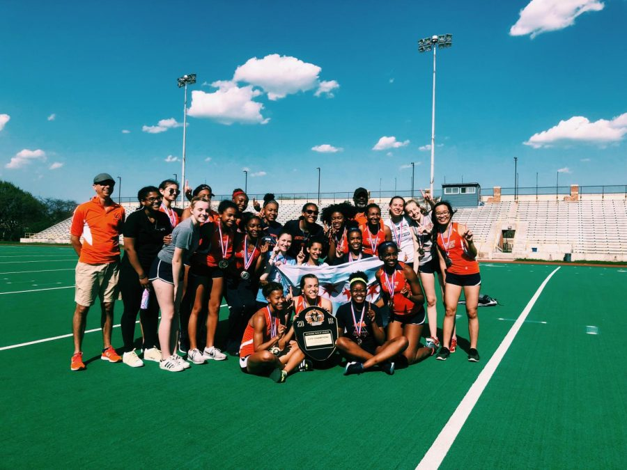 Girl's Track first in city championship
