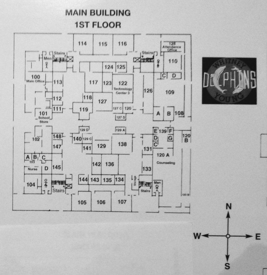 Map of 1st floor maze