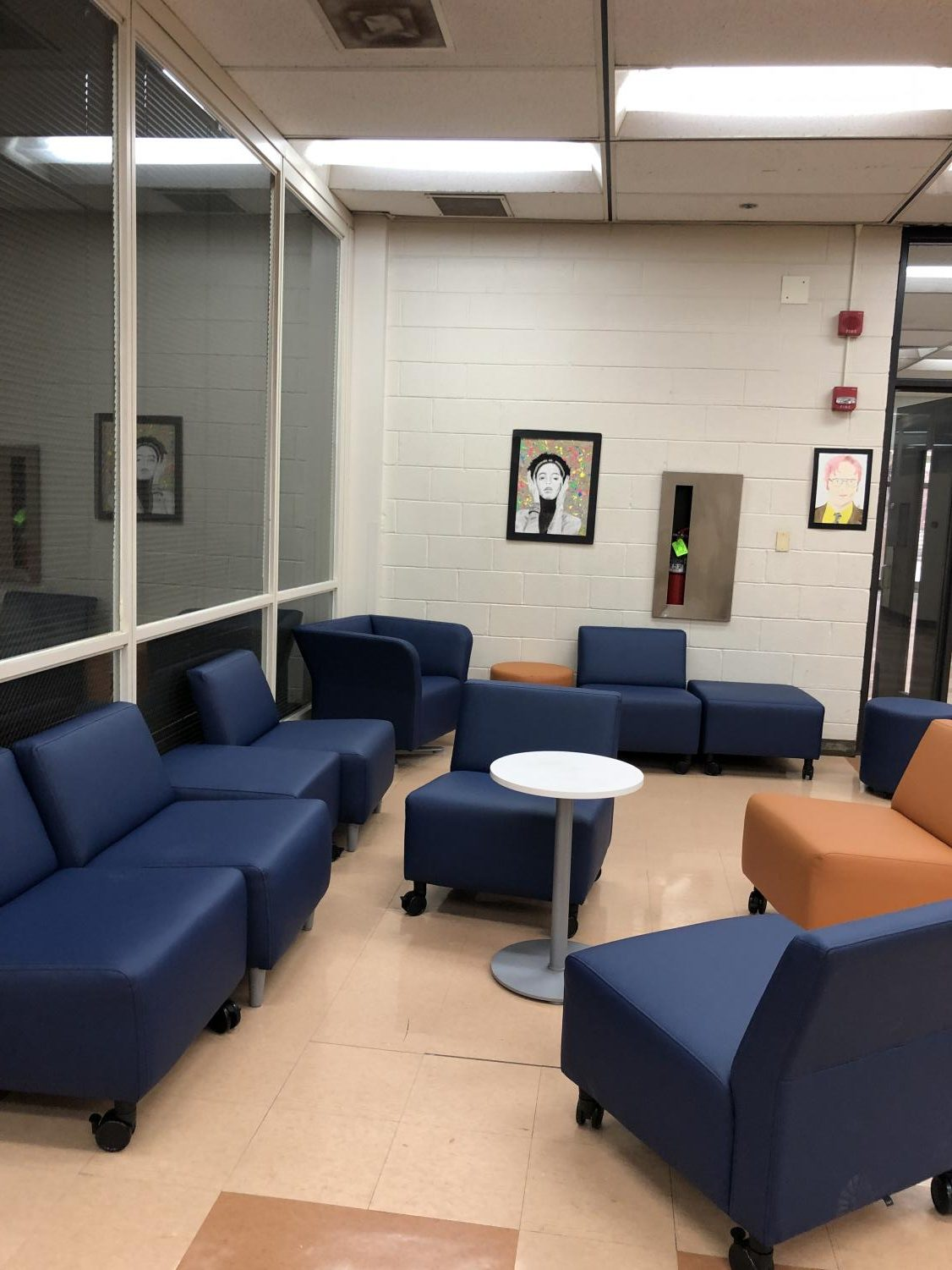 New lounge chairs in Whitney Young Main Building. Photo taken by Naiya Wax-Groot