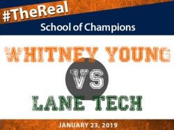 The Whitney Young Girl's Swimming and Diving Team takes on Lane Tech