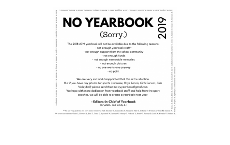 No Yearbook for 2019