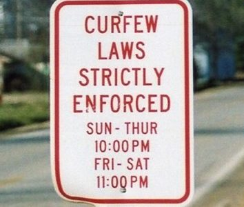 Curfews on Teens