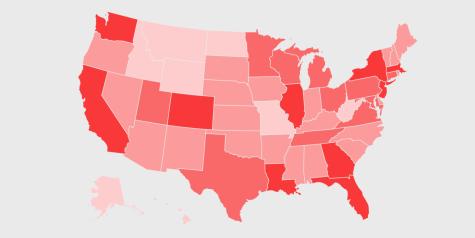 cases of Coronavirus by state