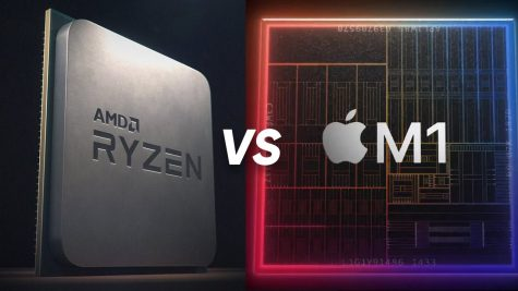 A picture of two computer processors