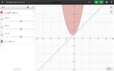 Shows what Desmos looks like